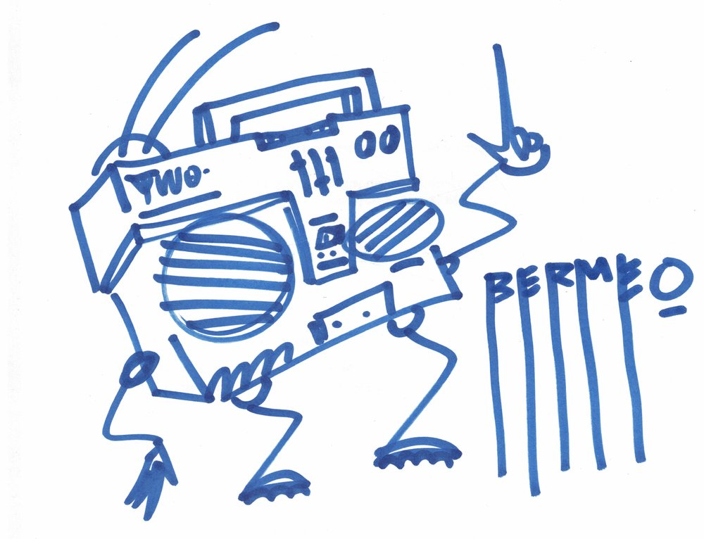 Basehead: - An anthropomorphic boombox from the 1980's who break dances to his own music blasting out from his eyes. Basehead is a funk soul brother if you had to guess.#baseheadnyc