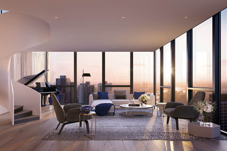 A PRIVATE PARADISE - From their elevated position, the Penthouses are a harmonious balance of centralised city living and an immersive refuge, away from it all.Commanding the highest degree of design excellence and finesse, the penthouses are defined by volume, sweeping views and stately inclusions. Wrapped in walls of glass, each open plan design is engulfed in natural light.