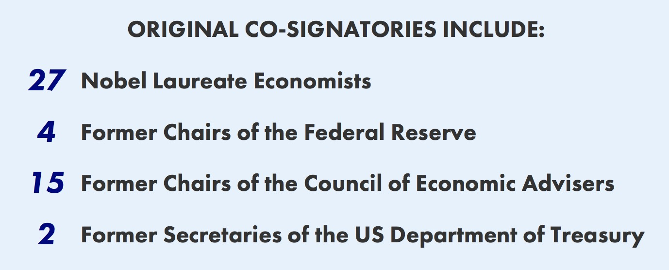 All Signatories — Economists' Statement on Carbon Dividends