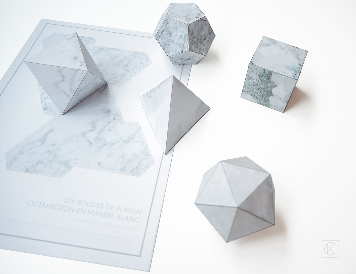 diy solid platon geometric paper origami template