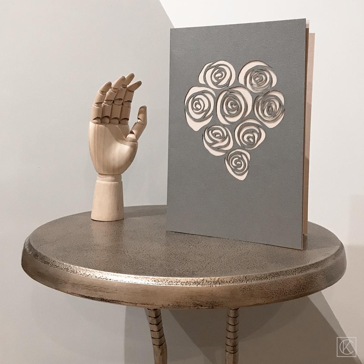 diy carte saint valentin / printable valentine card / kraftandcarat