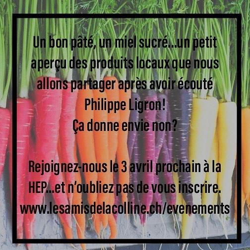 Conférence Philippe Ligron - «l'alimentation et notre 6ème sens» 3 avril 2019 à 19h - HEP  @lesamisdelacolline @lemontriond