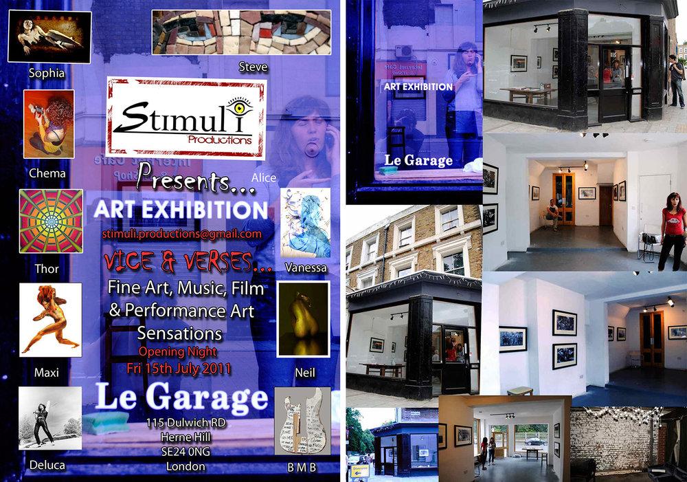 Le Garage exhibition - Brixton London - 2011