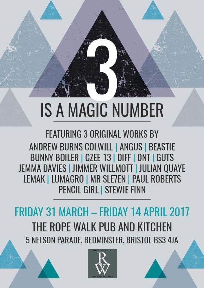 3 is a Magic Number - Ropewark - 2017
