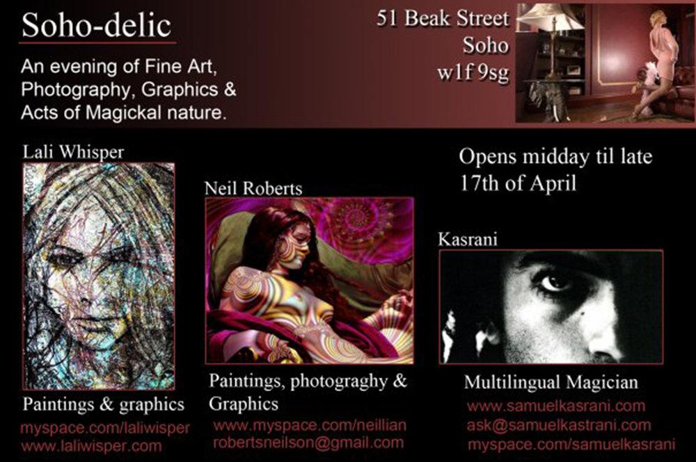 Soho-delic Exhibition - 51 Beak Street, London (2009)