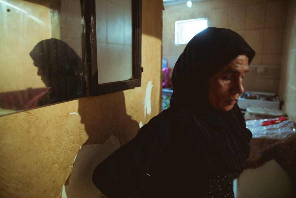 Amal Ahmad Al Atta, a 52-year-old grandmother born in the Shatila camp, has lived there her whole life and now shares a small single-room home with her surviving children and grandchildren.