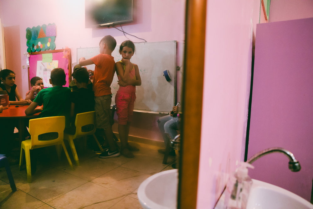 A small day school insidethe Shatilarefugee camp.