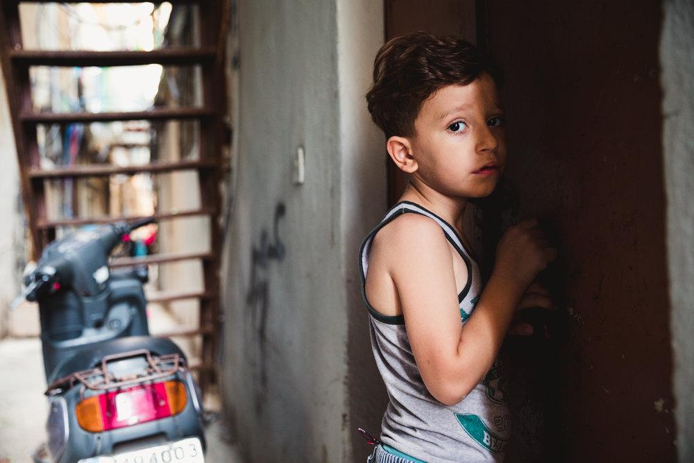 A young Palestinian boy.