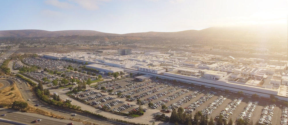 The Tesla Factory in Fremont, California (courtesy of    Tesla.com   )