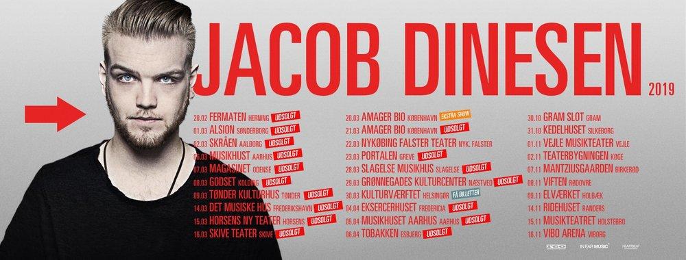 Jacob Dinesen er også på vej på turné.