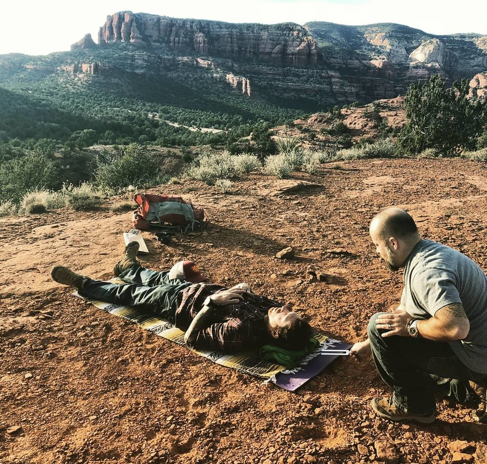 Tuning Fork Therapy on the Rocks - Sedona AZ