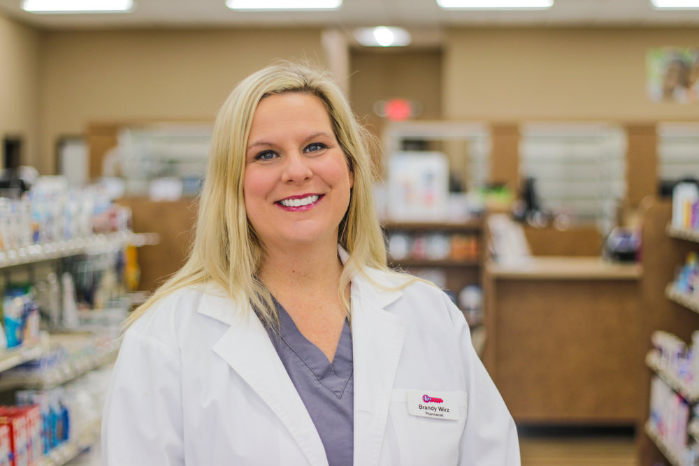 Brandy W - Pharmacist  Brandy has been employed with Key Drugs since 2015. She graduated from St. Louis College of Pharmacy in 2000 and went to work as a Pharmacy Manager at Walgreens. She also was a Director of Pharmacy at Missouri Southern Health. Brandy enjoys golfing and cooking. Brandy is a licensed Pharmacist with certifications in Travel health, Immunizations and Health, weight loss and fitness.