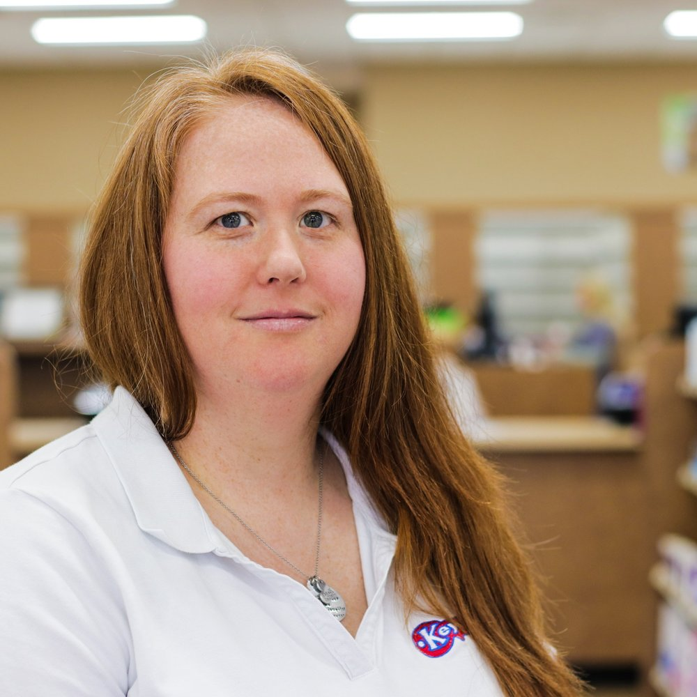 Kristin S - Pharmacy Technician  Kristin has been employed with Key Drugs since 2015. She graduated from Dexter Senior High School. Kristin is a Licensed Pharmacy Technician. She enjoys reading, playing with her puppies and spending time with her family and friends during her spare time.