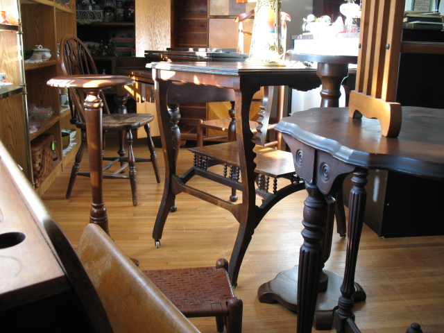 HH Antiques always has furniture in stock.  Stop in to see what's available