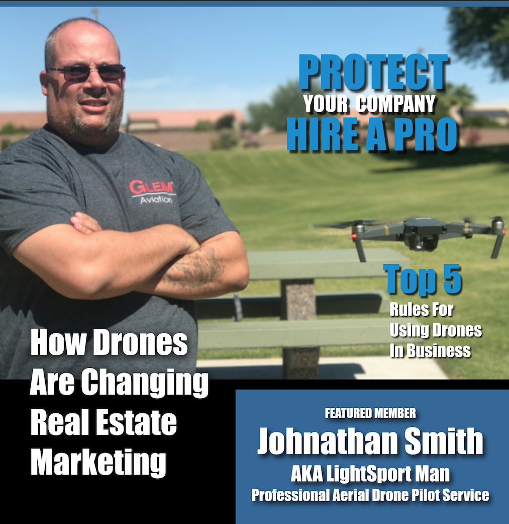 Johnathan Smith aka LightSport Man joins Premier UAV Aerial as Director of Aerial Operations