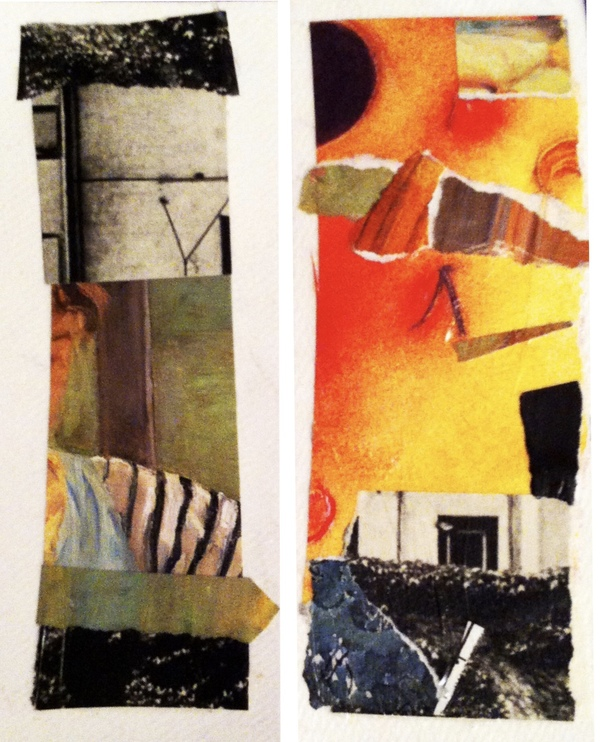 Twins Mixed Media, Collage