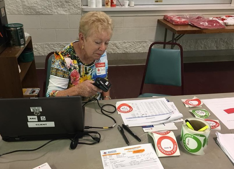 Red Cross Blood Drive Check-In