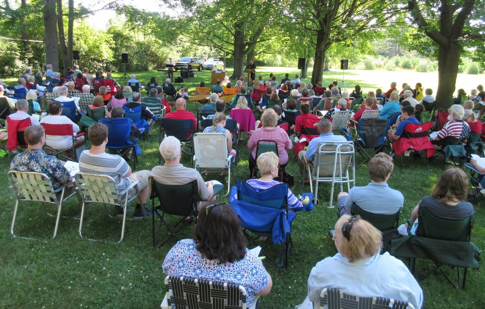 Outdoor Worship Service with Zoar Lutheran