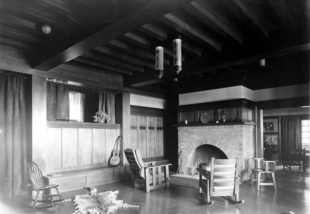 North Star House interior, 1904 designed by Julia Morgan (photo courtesy of the Foote Family Archive)