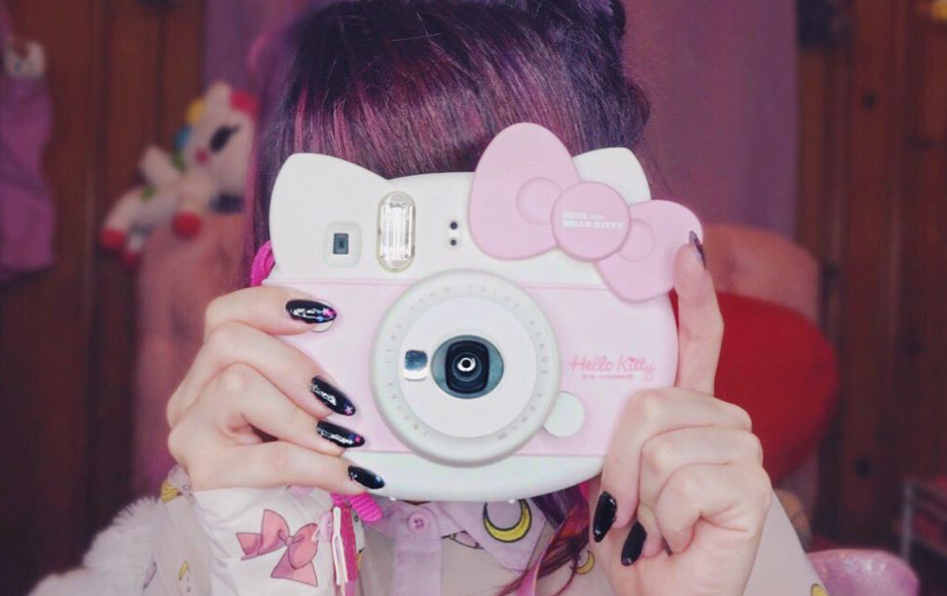 Polaroid Camera Urban Outfitters Uk : Polaroid camera cute pink photography images galleryneed