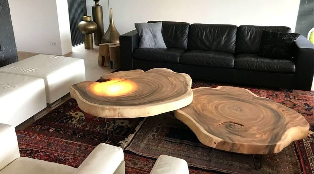 Boomstronk Als Salontafel.Boomstronk Bijzettafel Top Boomstam Tafels Boomstam Tafel Boomstam