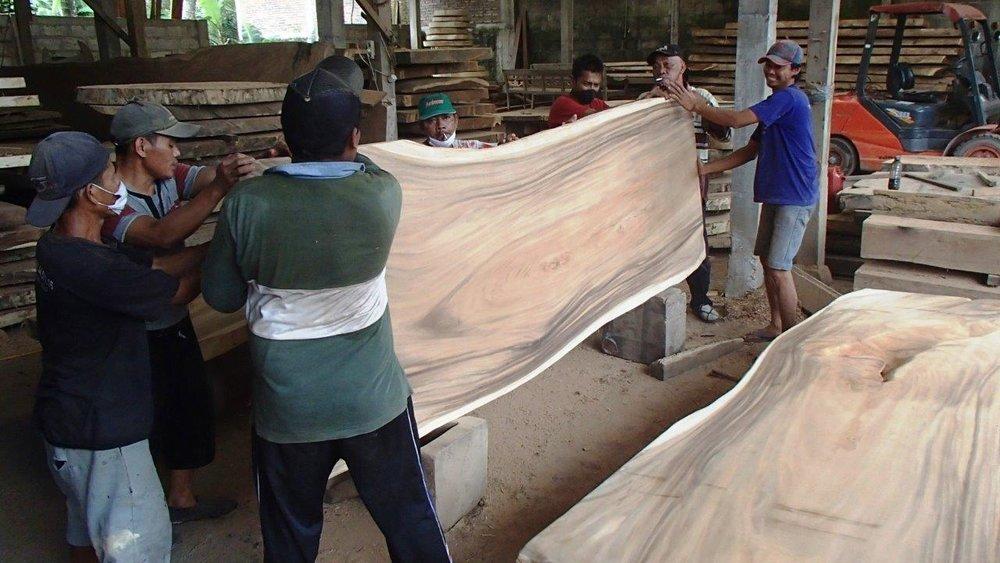 Boomstamtafel suar hout