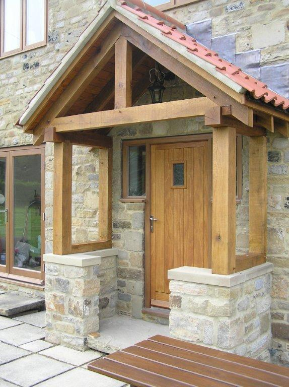 Oak porch, oak framed porch, wooden porch