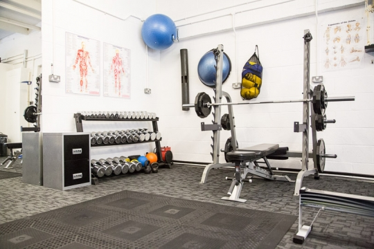 For all the different types of strength and conditioning training I have an Olympic bar and a full set of dumbbells with weights from 1 KG to 30KG. I also have a Lifefitness dual cable pulley machine with weights from 5KG to 80KG, medicine balls, kettle bells, bosu ball, ViPR, Surge Trainer, boxing gloves with pads and fitballs..