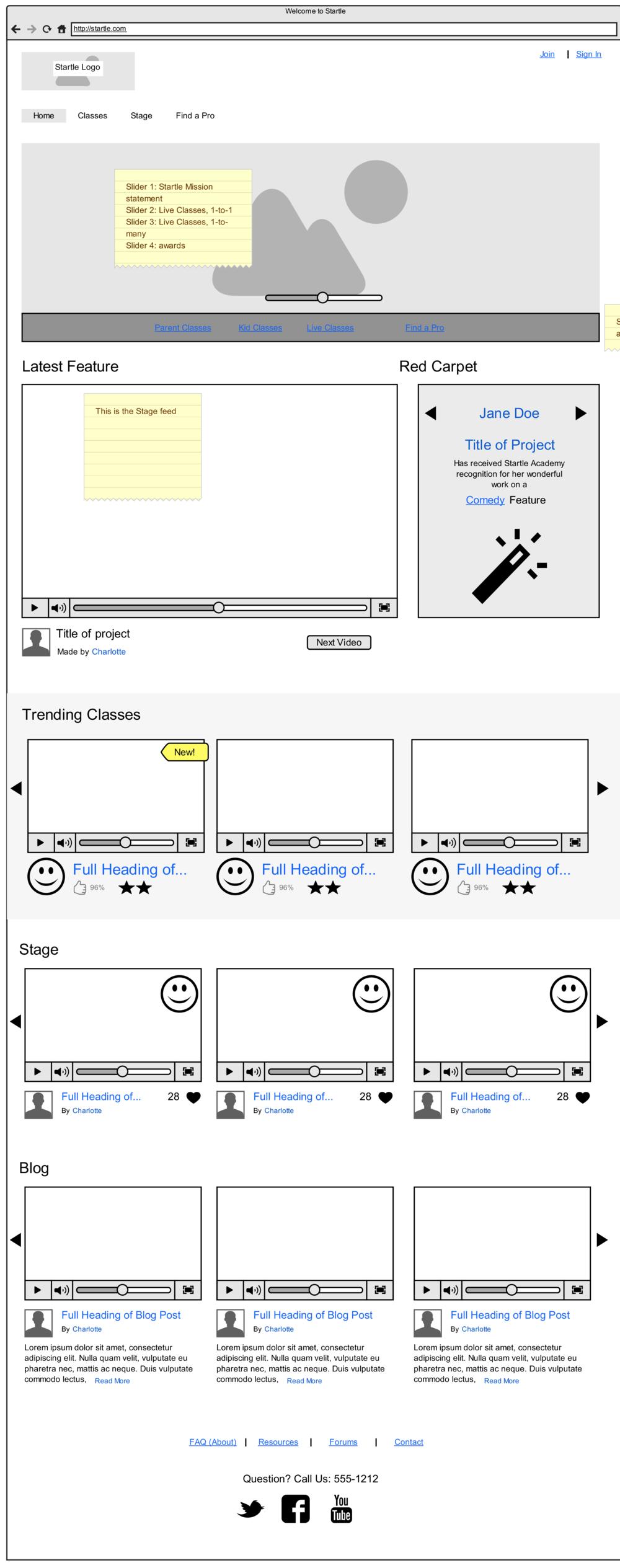 Mid-fidelity interactive wireframe prototype (Moqups)