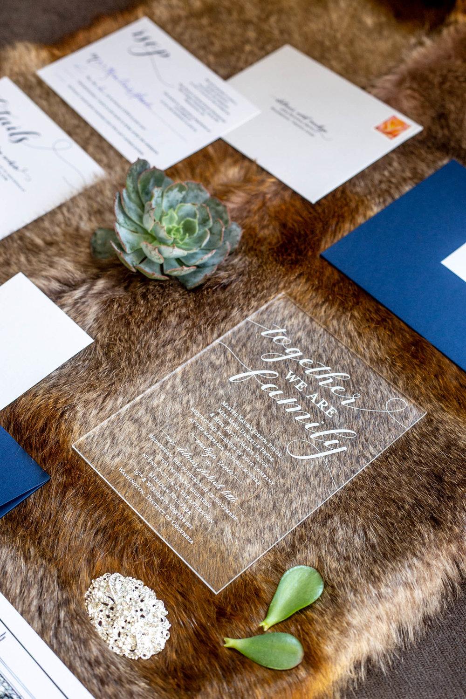 Acrylic Wedding Invitation Suite