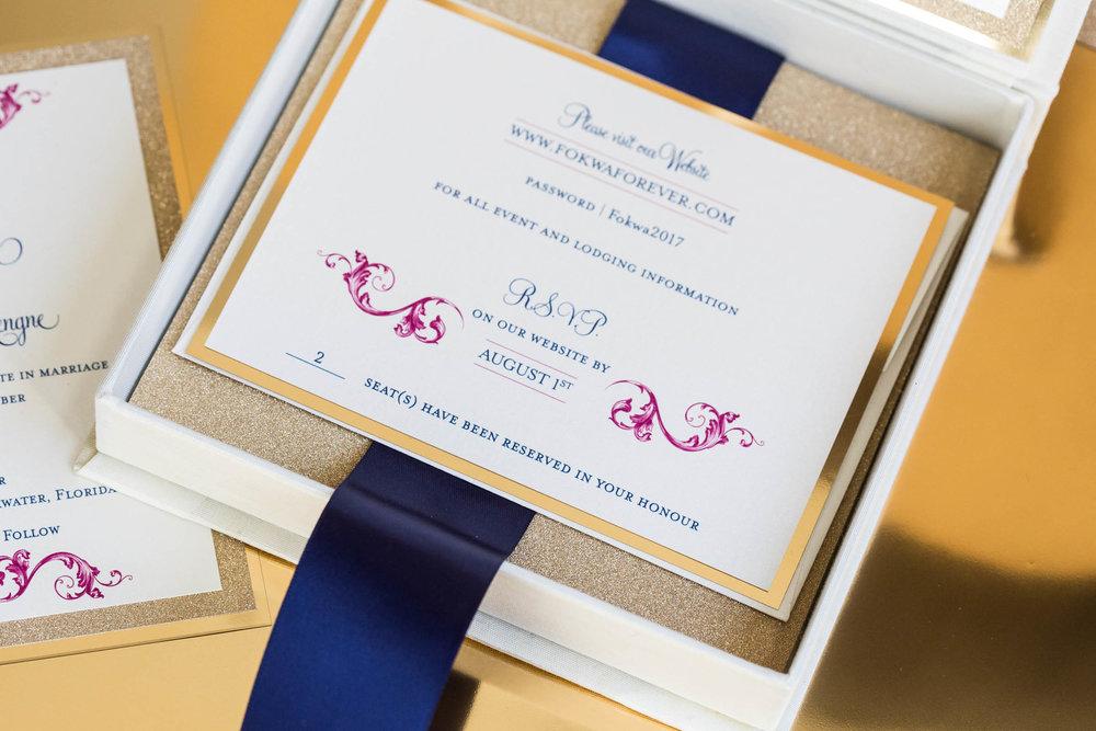 Fokwa Silk Box Invitation
