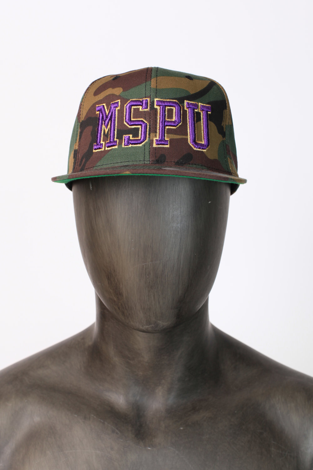 """Camouflage Omega baseball hat with """"MSPU"""" letters"""