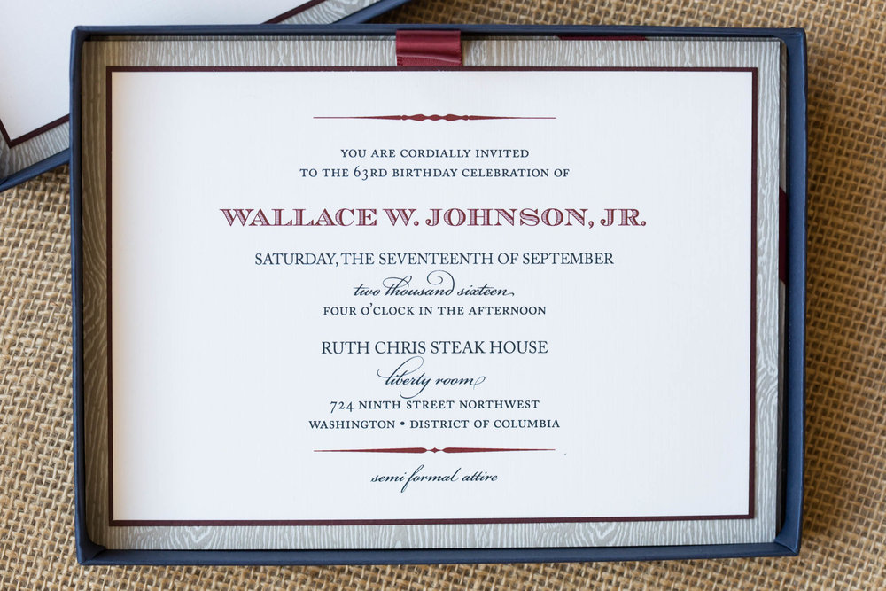 Johnson Birthday Invitation
