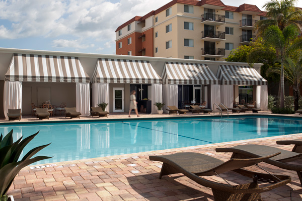 Beach Place Pool with Cabanas and Pedestrian