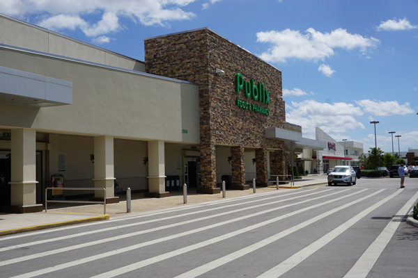 Doral Commons Publix Facade with Street, Car, and Pedestrian