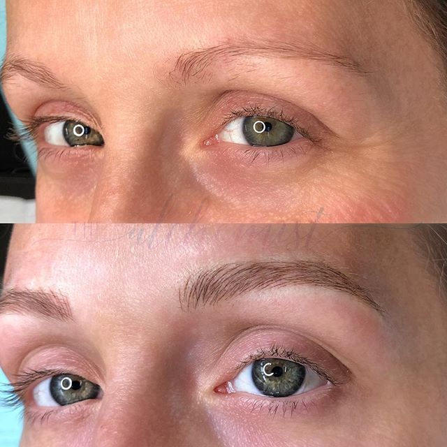 Just a little something to get your day started right. ⁣ ⁣ ✨Fully microbladed magic✨