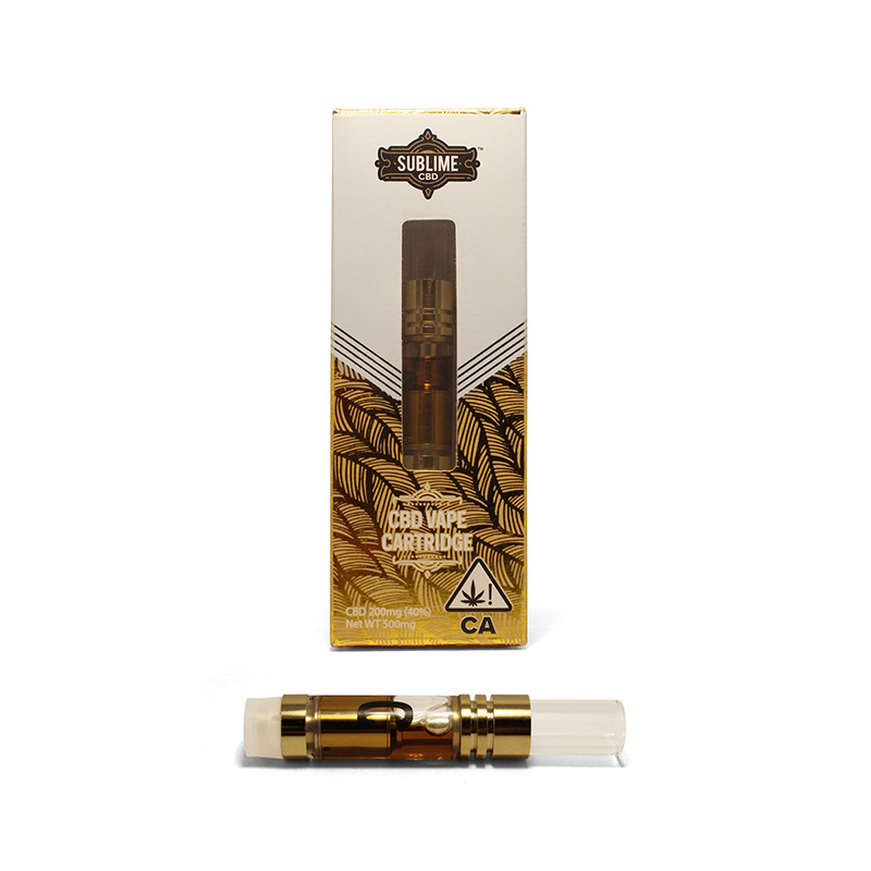 "HIGH-C - FEEL LIKE A WINNER500mg vape cartridgeEffects: Balanced, calm, motivatedWhen you want relaxation without the ""high"" Sublime High-C CBD cartridge is your best bet. This cart contains a blend of CBD and THC for a delightful balance.2nd Place ""Best CBD Concentrate"" Emerald Cup 2018"