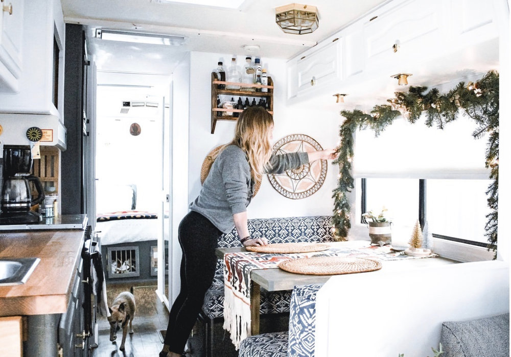 Just because we live in an RV, doesn't mean we can't decorate for the holidays!