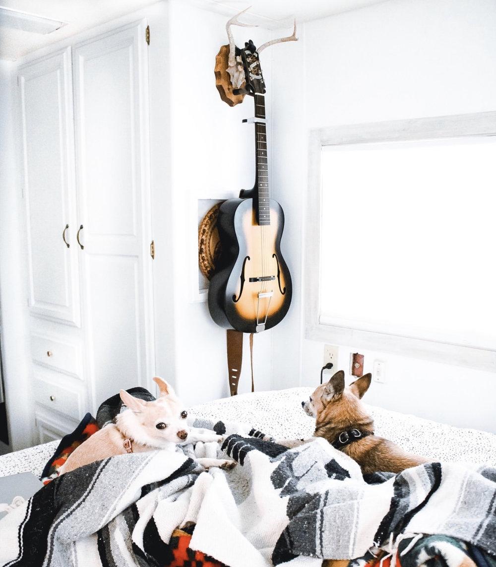 The Guitar nook in the Bedroom