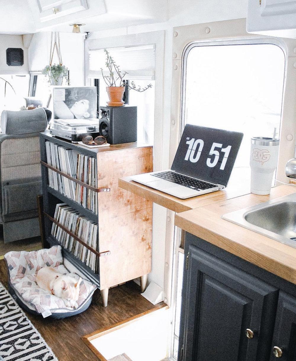 The Entrance and Folding Desk/Countertop