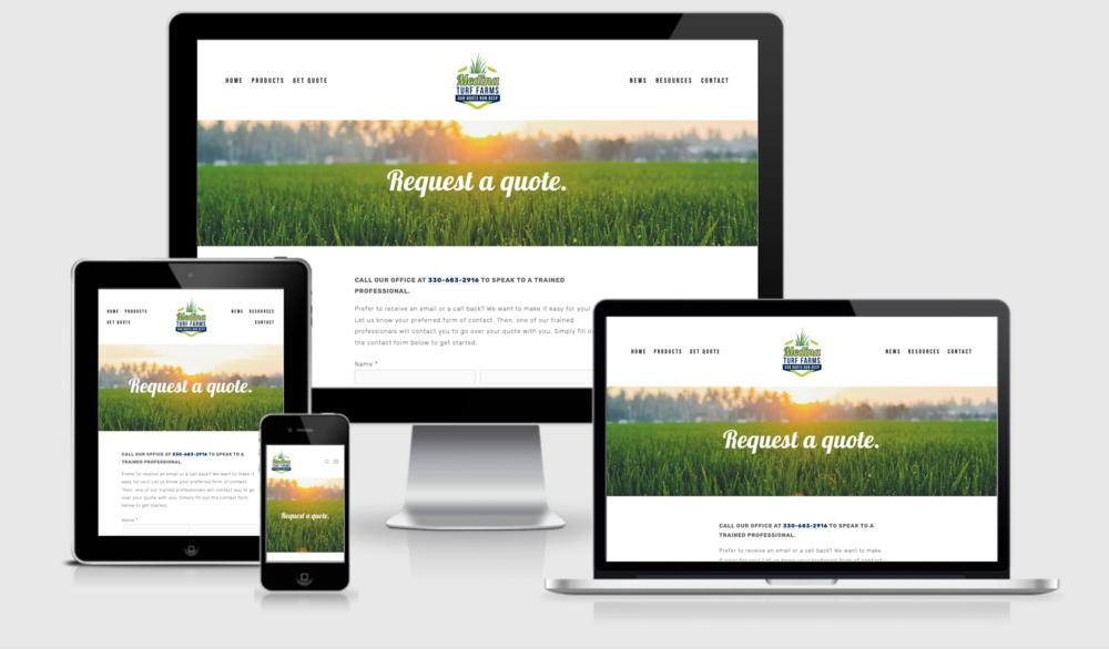 When ready to order turfgrass sod, Medina Turf Farms customers can  request a quote online .