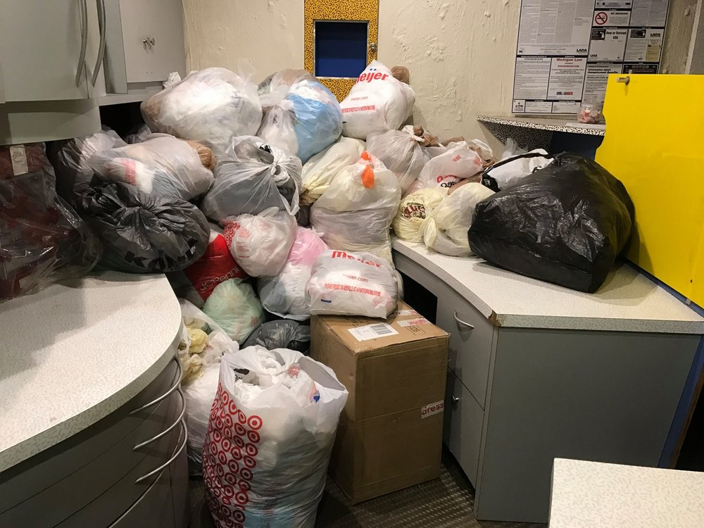 Haven's Place Grocery Bag Collection for Making Homeless Mats