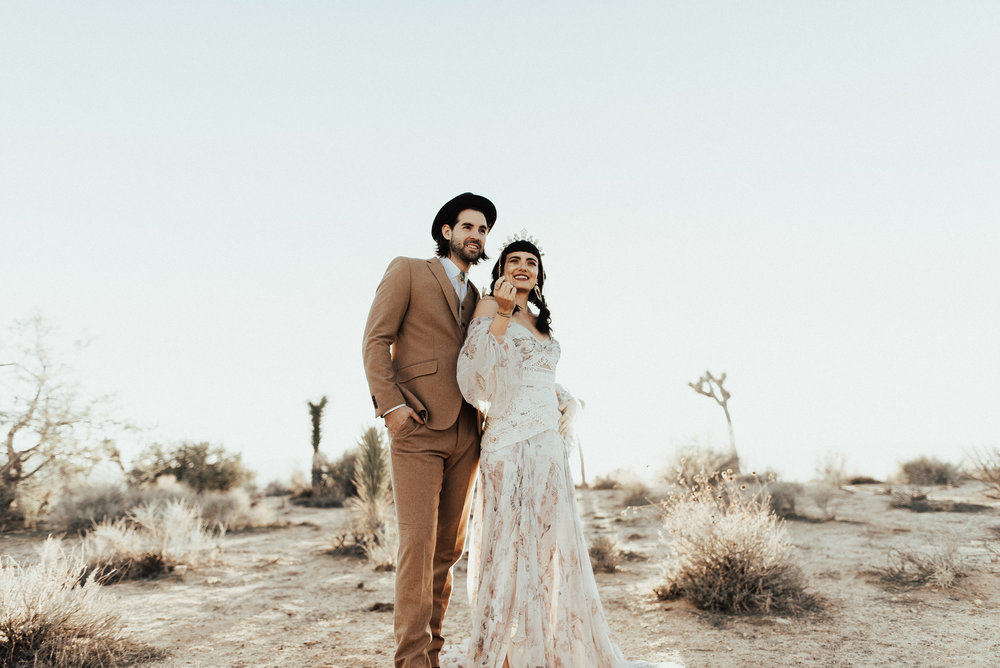 Joshua tree California elopement