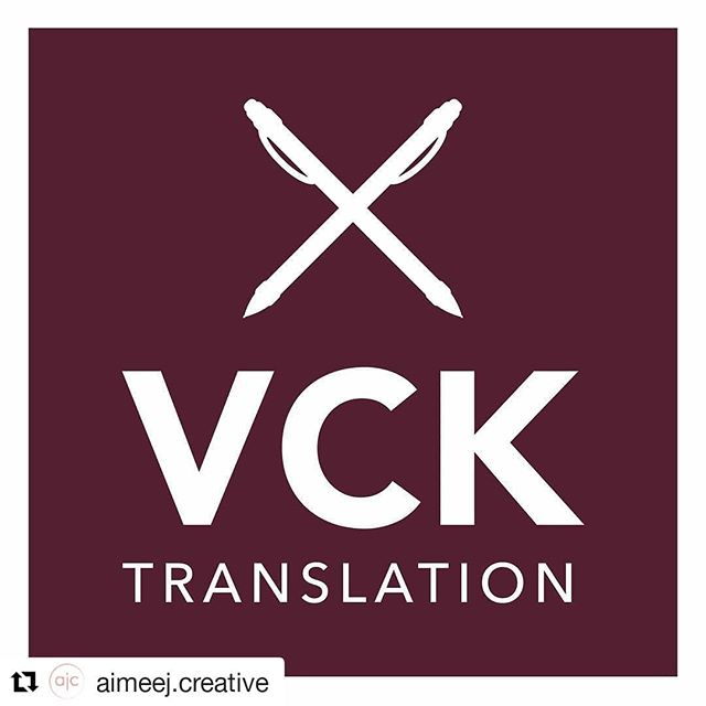 Oh my! I'm so excited to share my new logo! Aimee did an excellent job, and it was a pleasure to work with her.  #Repost @aimeej.creative (@get_repost) ・・・ So pumped about the new  @vcktranslation logo! Proud to work with heart-centered entrepreneurs like Victoria, and so grateful for clients who trust me with their brands! . . . . #moreofthisplease #graphicdesign #logodesigner #translators #ladyboss #entrepreneur #digitalmedia #brand #tellyourstory