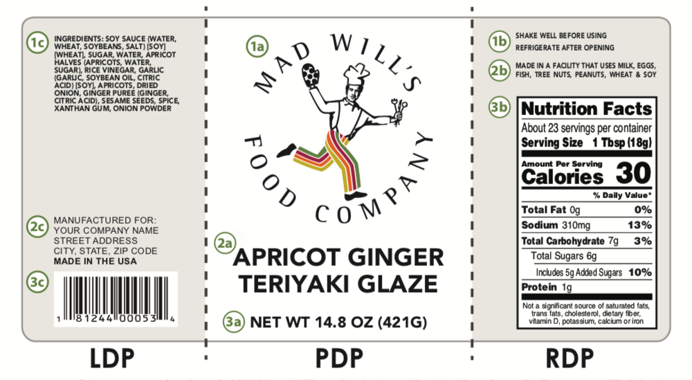 Label Specifications (image of example label)