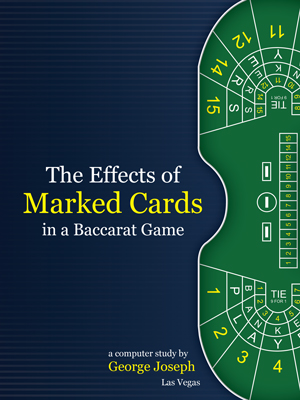 The Effects of Marked Cards - Baccarat is vulnerable to cheating because of high limits traditionally offered at luxury casinos. Marked cards are one area of cheating used by high rollers to influence outcomes. Casino expert George Joseph has done a computer study on the effects of Marked Cards in a Baccarat Game so security experts and casino personnel can understand how to recognize and combat the phenomenon.George is court-qualified as the casino industry's leading expert in surveillance and casino cheating.