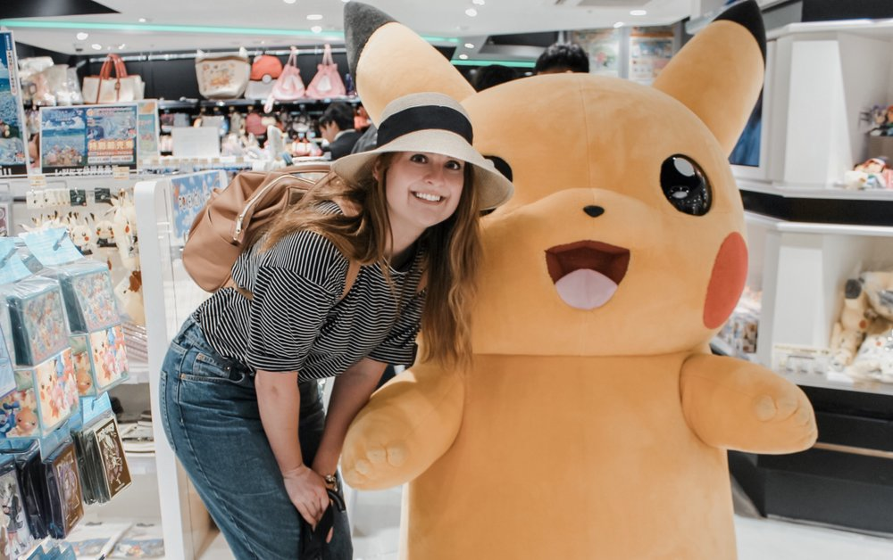A little too excited to meet Pikachu