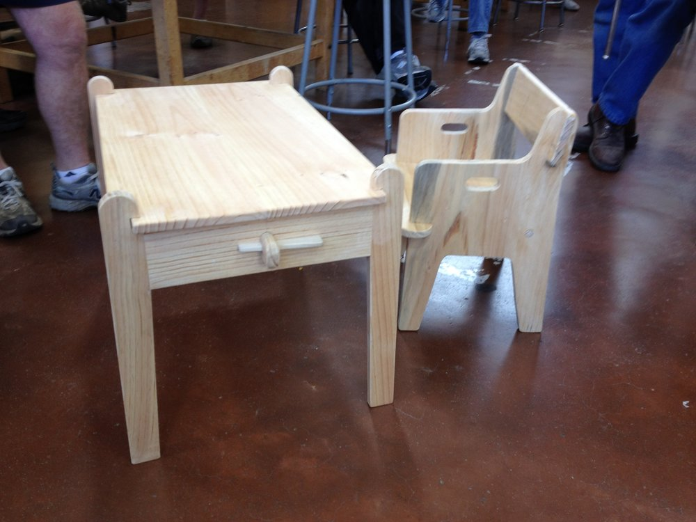 Take-apart Child's Table and Chair
