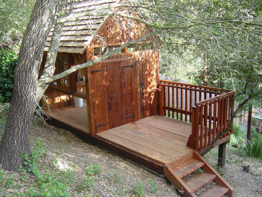 Redwood Timber Frame under construction