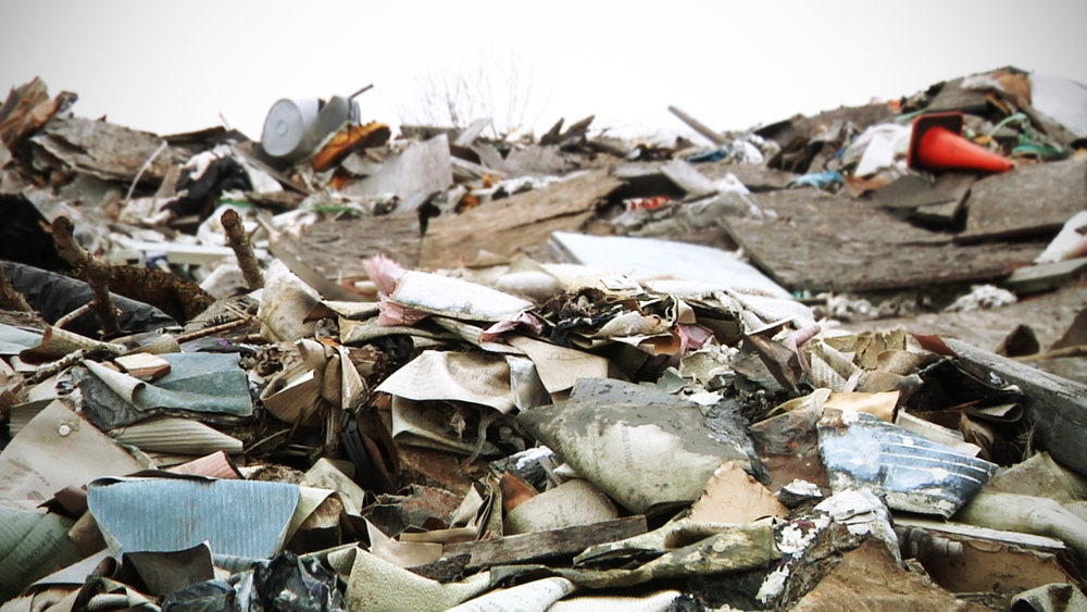 Mixed Debris, including non-recyclables